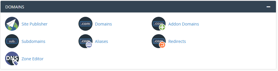 Domains Section